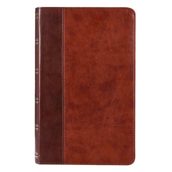KJV Faux Leather Giant Print Brown