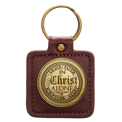The 5 Solas, In Christ Alone - Ephesians 2:8 Keyring in Tin