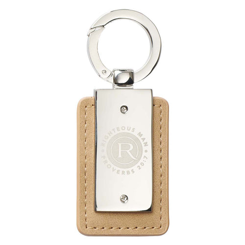 Righteous Man Key Ring in Tin - Proverbs 20:7