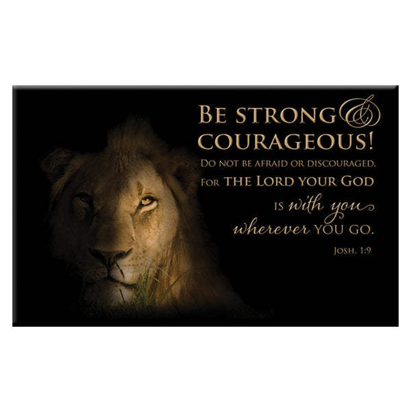 Magnet: Lion Strong and Courageous