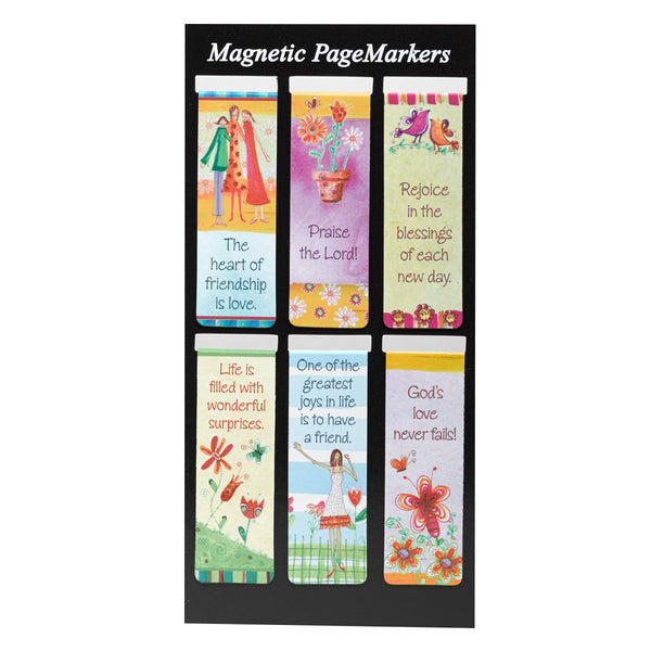 Magnetic Page Markers Set of 6  Whimsical