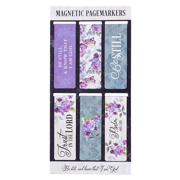 Magnetic Bookmark Set - Be Still Psalm 46:10