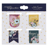 Die-cut Petite Magnetic Bookmark Set - Faith Hope Love