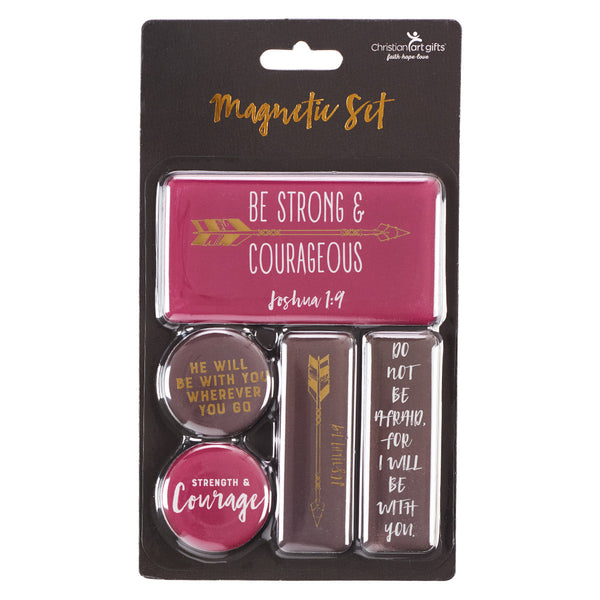 Magnet Set – Be Strong And Courageous  Joshua 1:9