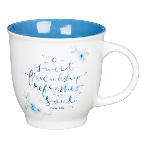Ceramic Coffee Mug - A Sweet Friendship Proverbs 27:9