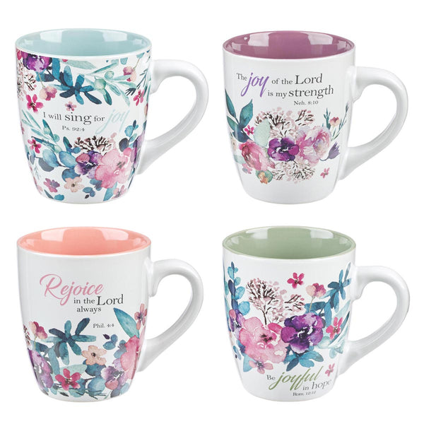 Mug Set 4pc Rejoice