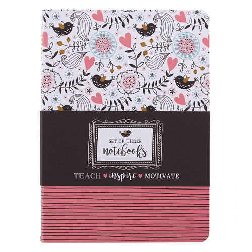 Heart of a Teacher Large Notebook Set