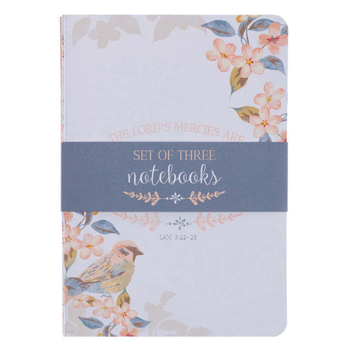 Medium Notebook Set - His Mercies Are New Lamentations 3:22-23