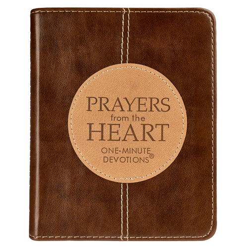 Prayers from the Heart LuxLeather Edition - One-Minute Devotions