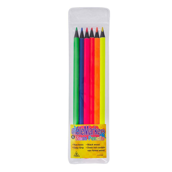 Biblemarkers : Pack of 6 Neon Pencils