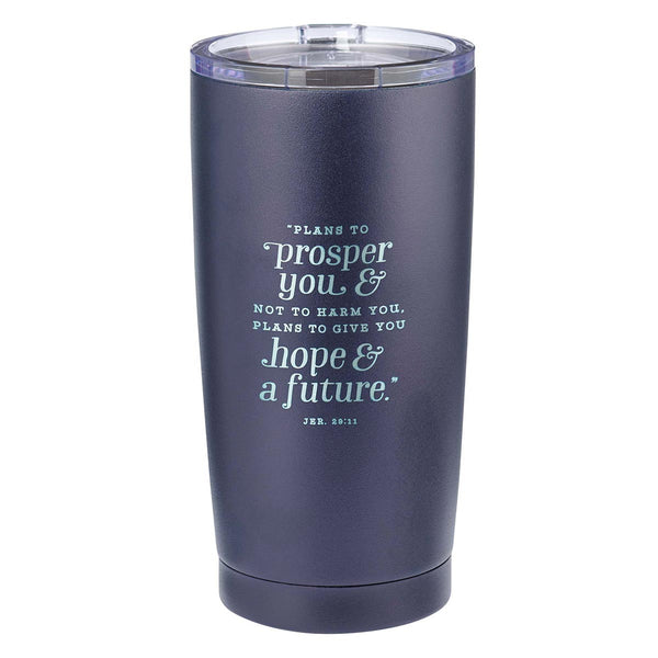 Navy Stainless Steel Mug - Hope & a Future Jeremiah 29:11