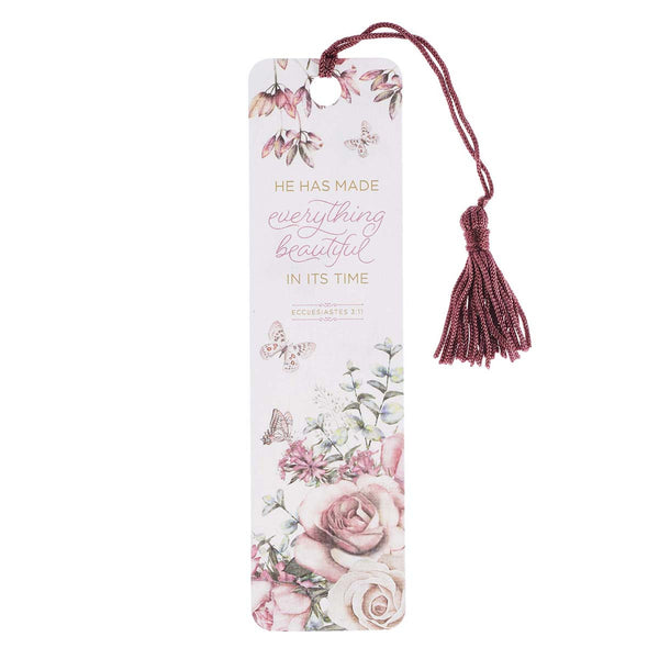 Bookmark with Tassel - Everything Beautiful Ecclesiastes 3:11 (order in 6's)