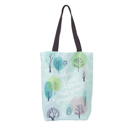 Teachers Plant Seeds Cotton Canvas Tote
