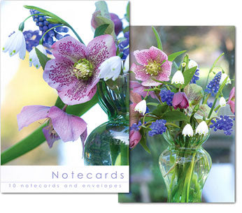 Notecards: Hellebore arrangement  (W139BLT)