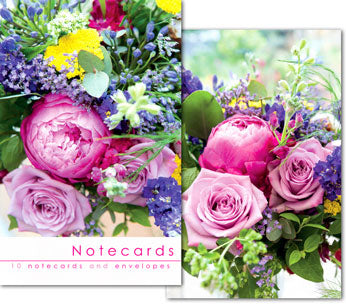 Notecards: Paeony Rose Bouquet