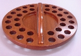Round Wooden Communion Tray-34 Holes (Bread Space) - KI Gifts Christian Supplies