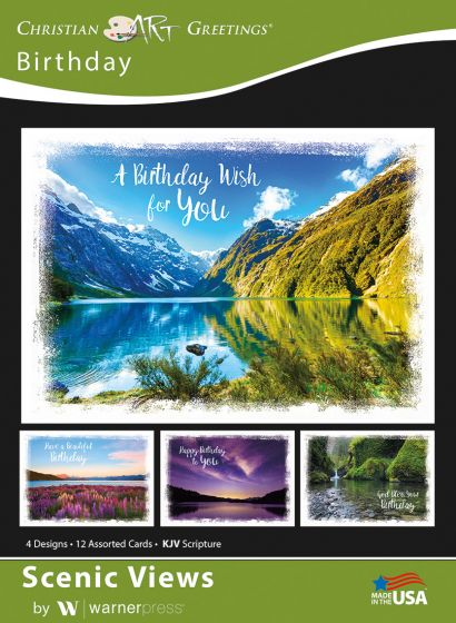 Boxed Card - Birthday : Scenic Views
