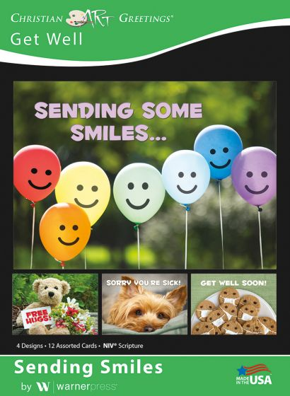 Boxed Card - Get Well : Sending Smiles
