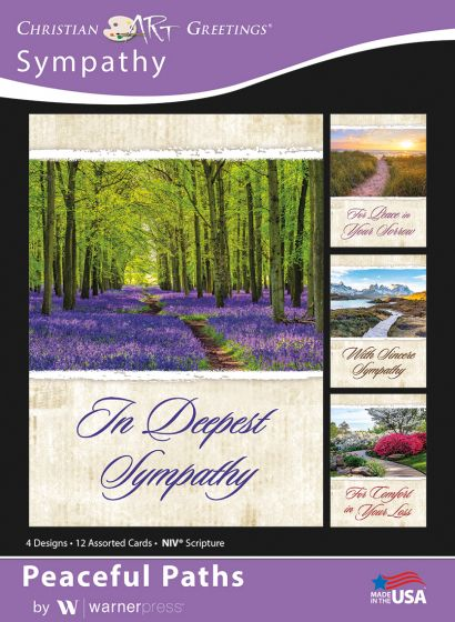 Boxed Card - Sympathy : Peaceful Paths