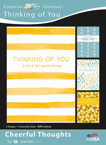 Boxed Card - Thinking of You : Cheerful Thoughts