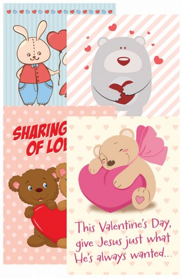 Boxed Card - Valentine's Day - Hugs and Love Kids  NIV - KI Gifts Christian Supplies
