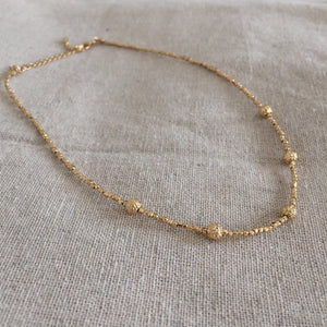 OneLeft Gold Beaded Choker
