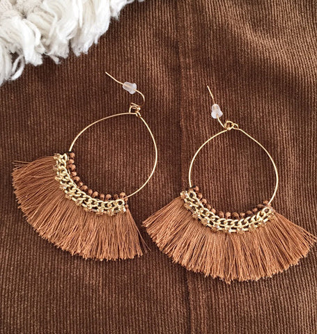 Brown Playa Earrings