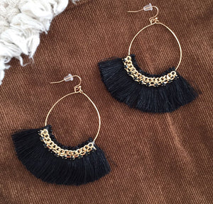 Black Playa Earrings