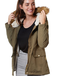 Jacket with Fur Hoddie