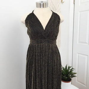Shimmer Maxi Dress in Black