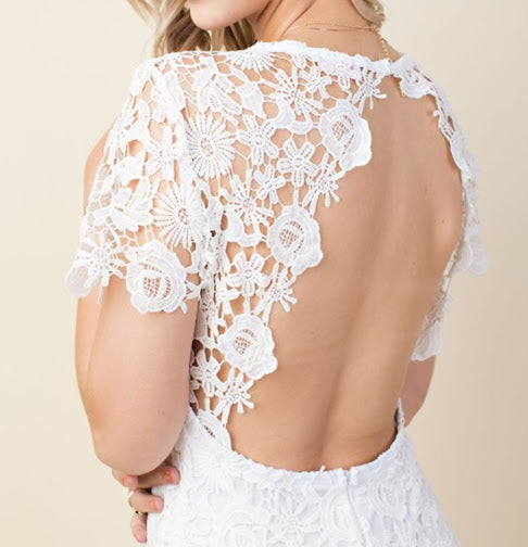 Ivory Crochet Lace Dress