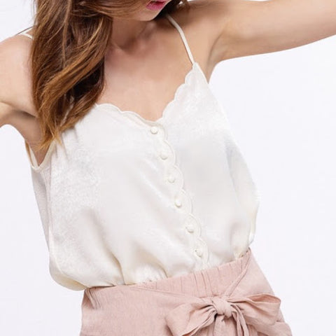 Cream Cami Top