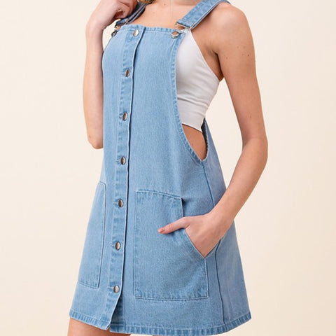 Mia Denim Overall Dress