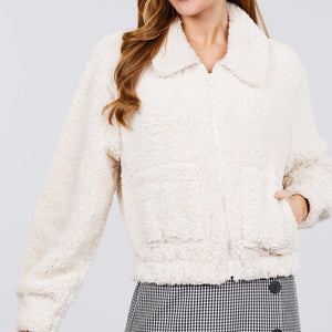 White Cream Teddy Bear Sweater