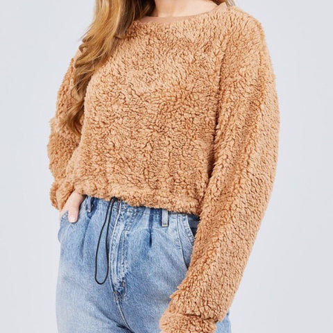 Cropped Teddy Sweater