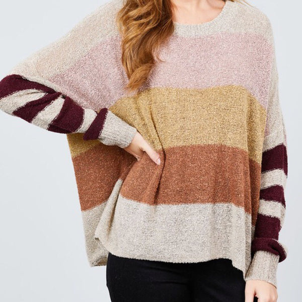 Stripe Loose Sweater