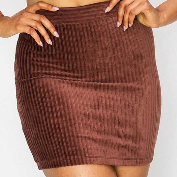 Mini Skirt  Suede Babe