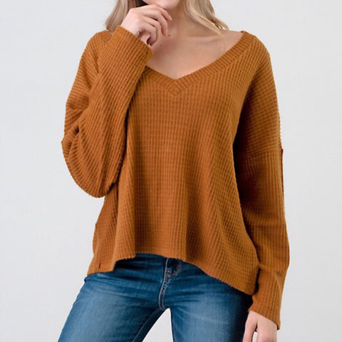 Terracota V-neck Long Sleeve