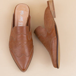 Brown Pointy Loafers