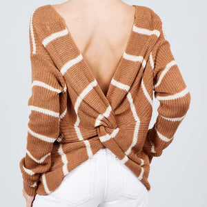 Stripe Knot Sweater