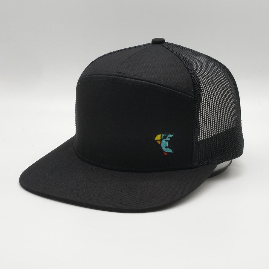 PEACH BLACK HAT