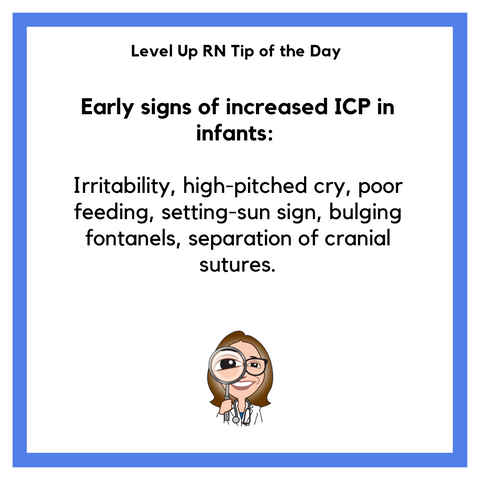 LevelUpRN Signs of increased ICP Tip of the Day