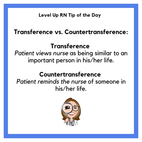LevelUpRN Transference vs. Countertransference Tip of the Day