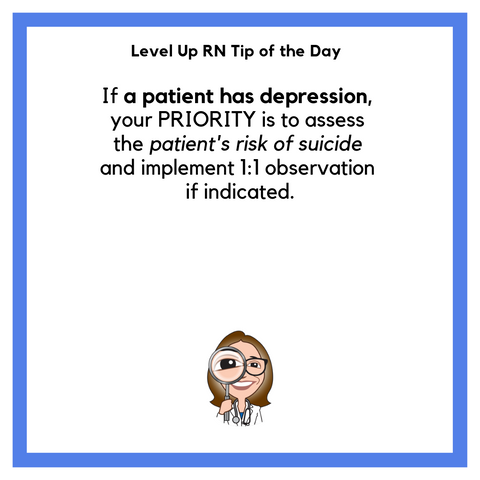 LevelUpRN Patients with Depression Tip of the Day