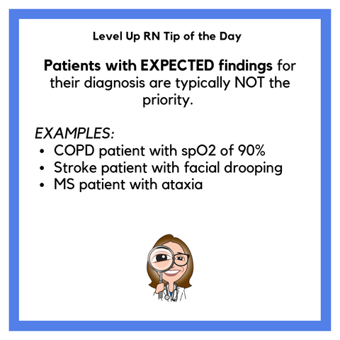 LevelUpRN Prioritizing Diagnoses Tip of the Day