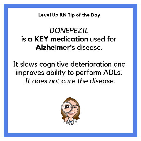 LevelUpRN Alzheimer's Tip of the Day