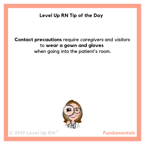 LevelUpRN Contact Precautions Tip of the Day
