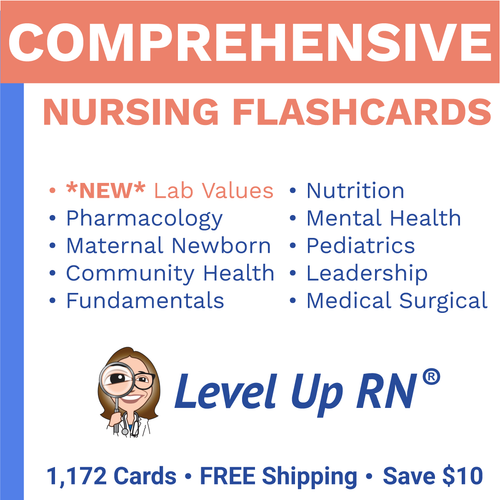 Comprehensive Nursing Flashcards Set