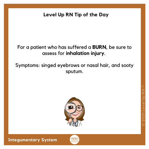 Burn Symptoms Tip
