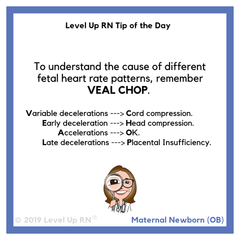 LevelUpRN VEAL CHOP Tip of the Day